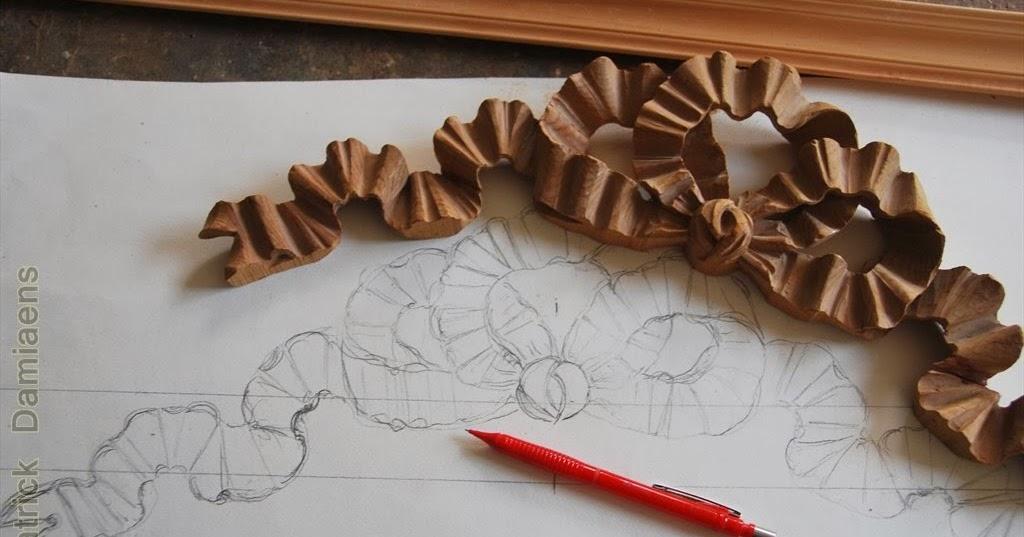 Ornamental Woodcarver Patrick Damiaens A Ribbon Amp Bow