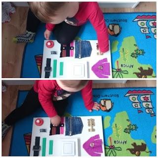 dwulatek ćwiczy rączki