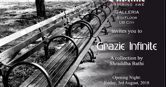 Art News: Grazie Infinite by Shraddha Rathi in Bangalore