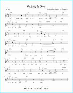 chord oh lady be good lagu jazz standar