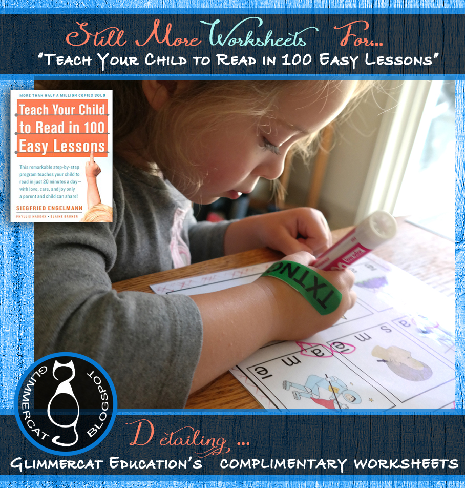 Printables Teach Your Child To Read In 100 Easy Lessons Worksheets glimmercat still more worksheets for teach your child to read in as i mentioned the last post have begun 100 easy lessons book with my four