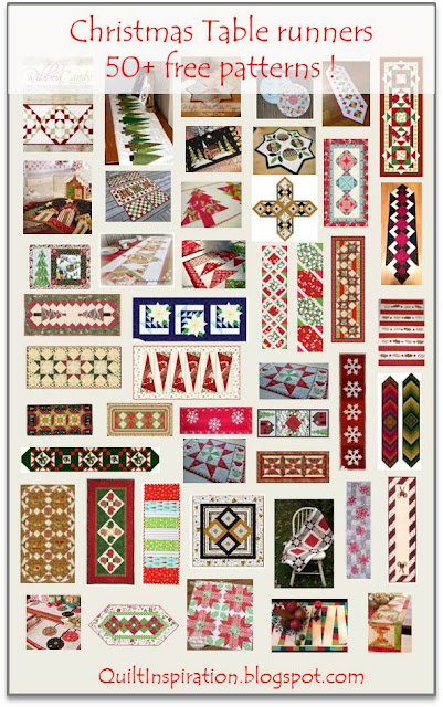 Christmas Table Runner Patterns Free.Quilt Inspiration Free Pattern Day Christmas Table Runners