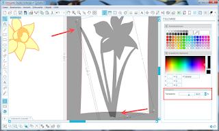 Screenshot mit halb transparentem Motiv und Rahmen