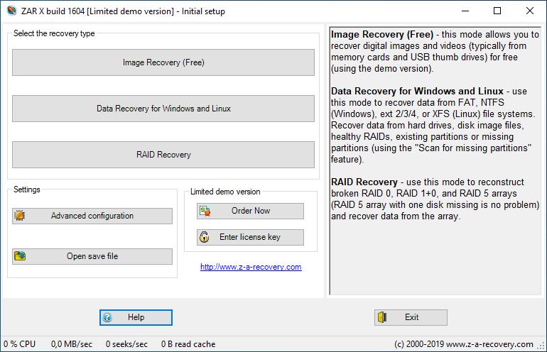 تحميل أفضل برنامج لاستعادة البيانات من مختلف الأنواع وظروف التخزين Zero Assumption Recovery 10.0 Build 1604