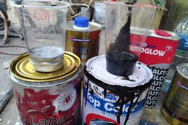 100% Berhasil -  Cara Membuat Warna Cat Abu abu Metalik