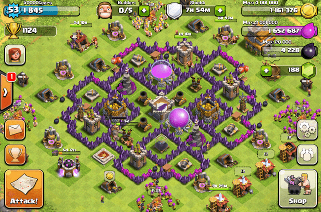 akun coc th 7 gratis