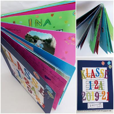 Klassen-Buch als Abschiedsgeschenk für einen Lehrer Stampin' Up! www.eris-kreativwerkstatt.blogspot.de