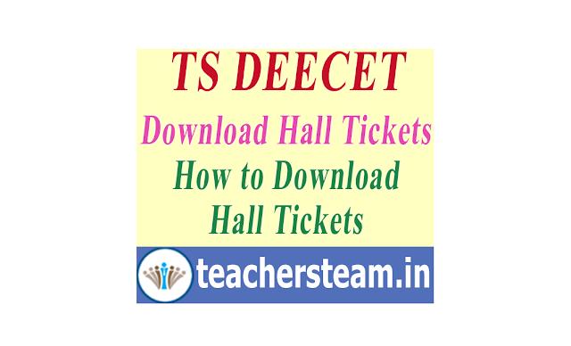 TS DEECET Hall Tickets Download from TS DEECET official website www.deecet.cdse.telangana.gov.in