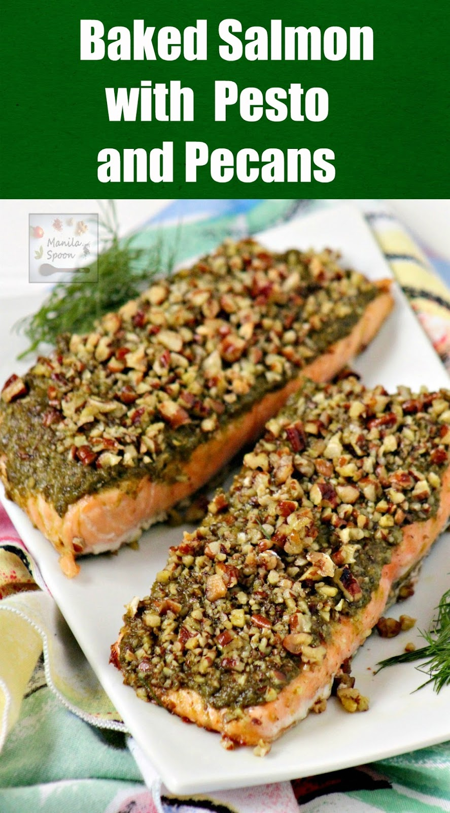 Just 3 Ingredients To Make This Easy, Quick And Very Tasty Baked Salmon  With Pesto