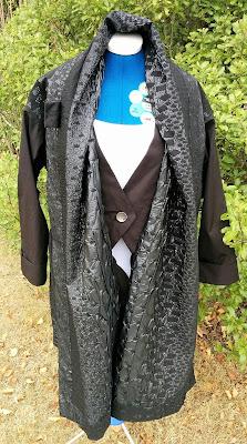 Creates Sew Slow: Vogue 1836 Issey Miyake Gorgeous Raincoat