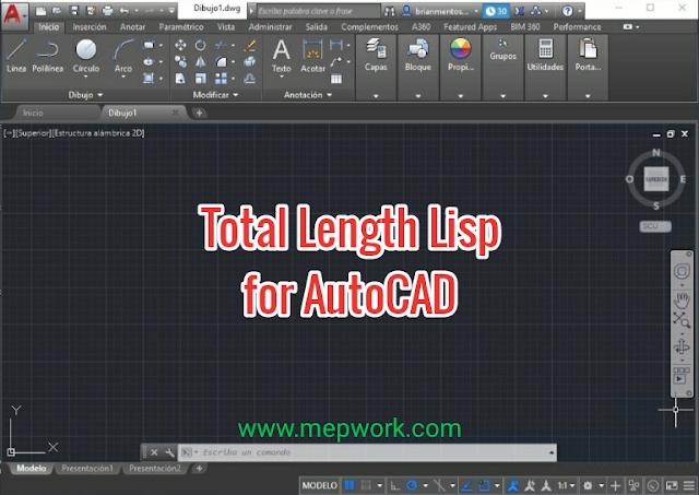 download Total length lisp for autocad