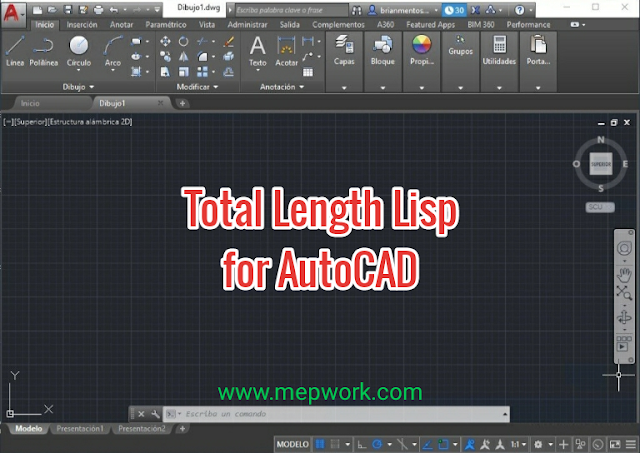 Total Length AutoCAD Lisp for Duct and Pipes