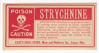 Strychnine Label