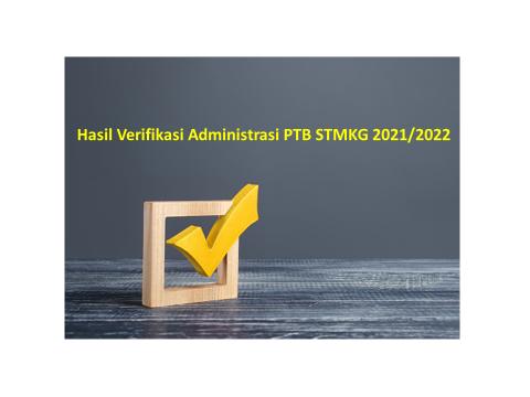 Pengumuman Hasil Verifikasi Penerimaan Taruna Baru STMKG 2021/2022