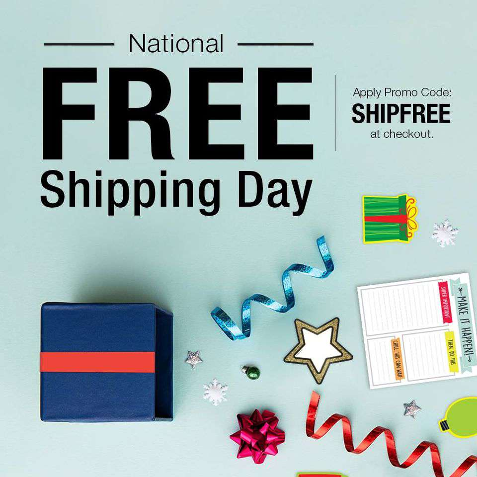 National Free Shipping Day Wishes Beautiful Image