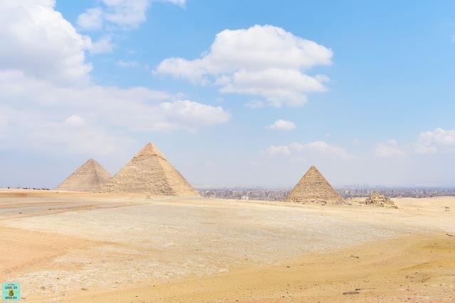 Mirador en las Pirámides de Giza