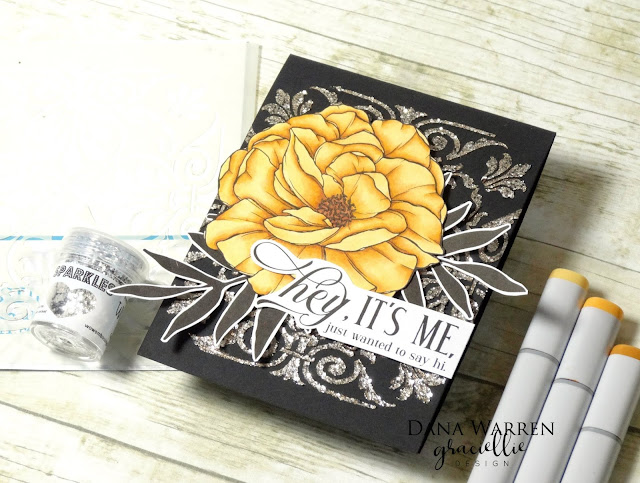 Dana Warren - Kraft Paper Stamps - Gracielle Designs Wow Embossing Powder