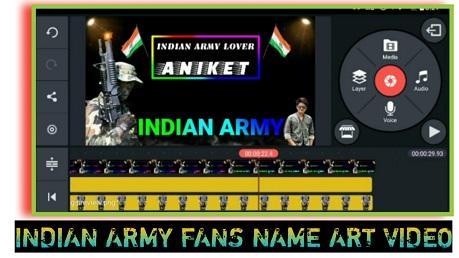Indian Army Name Art Video Kaise Banaye Apne Phone Se
