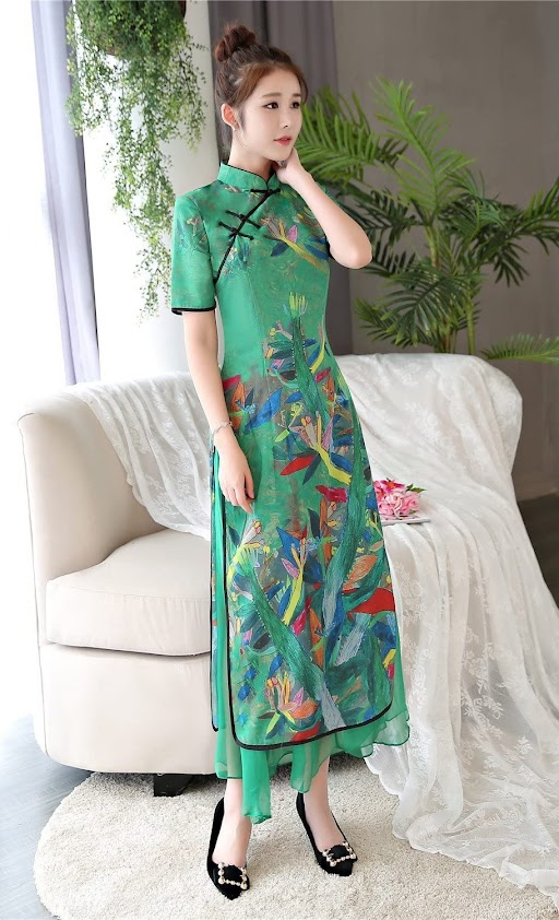 Green Cheongsam Qipao