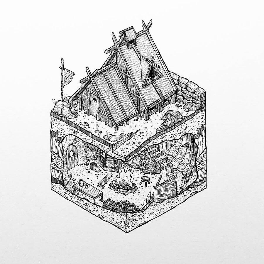 07-Isometric-viking-house-Grant-Abernethy-www-designstack-co