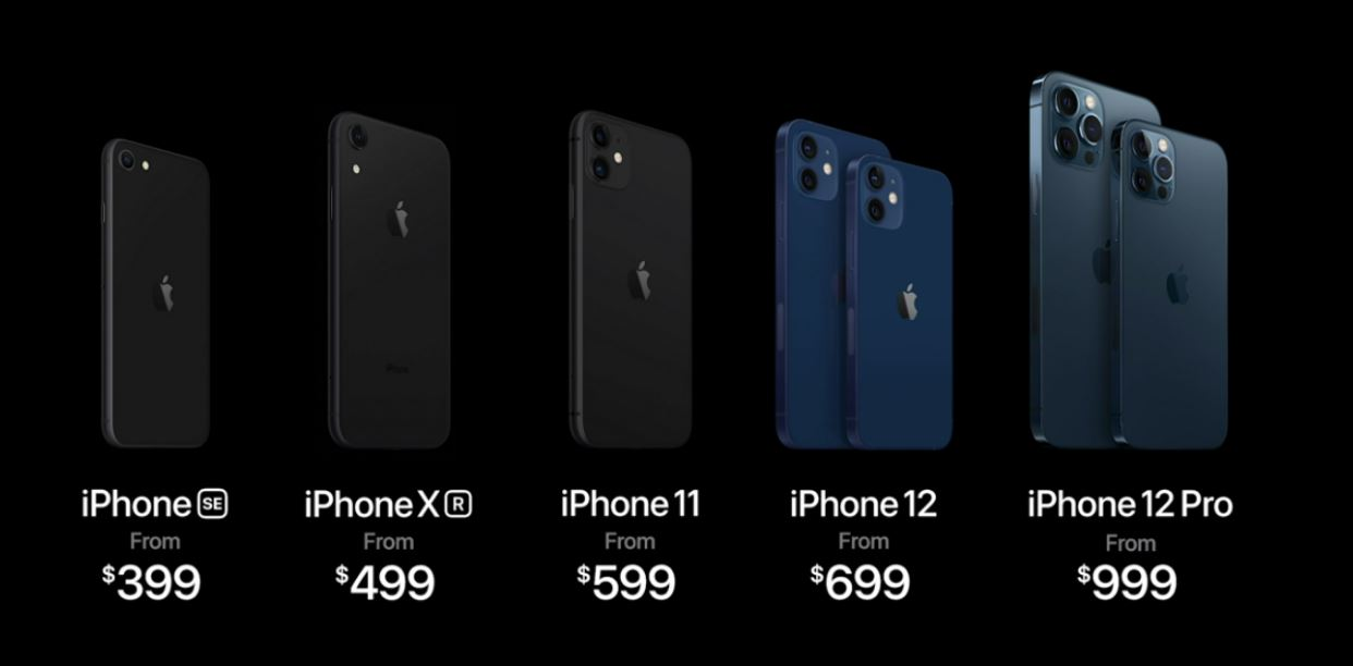 apple iphone 12 pricing list