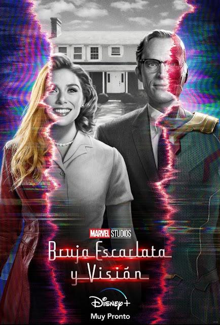 Poster oficial Bruja Escarlata y  Visión