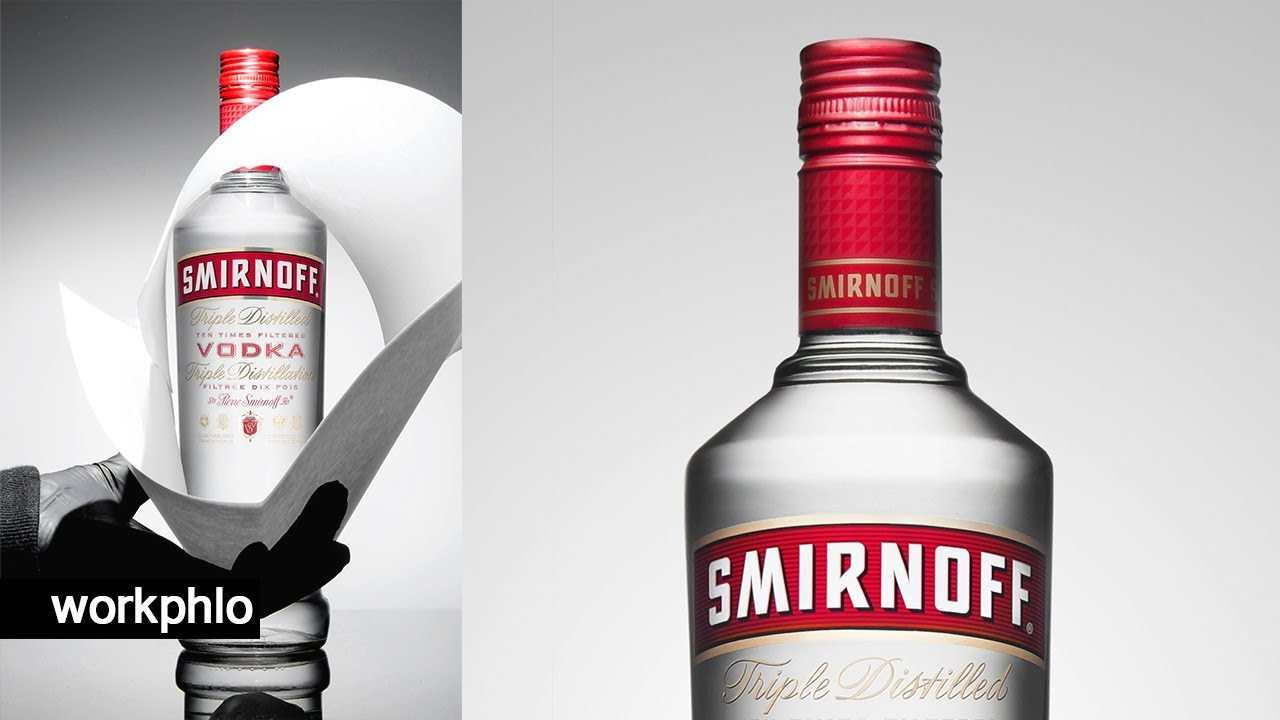 How to Photograph a Classic Vodka Bottle | Lighting & Photoshop Composite