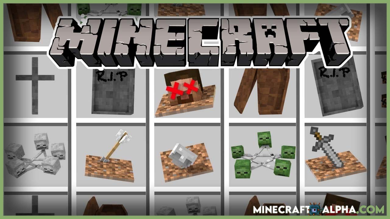 Minecraft EuhDawson's GraveStone Mod 1.17.1/1.16.5 (Ritual, Tomb)