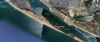 Playa del Espigón, en Huelva