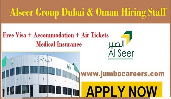 Latest UAE job openings with salary,Free Visa air ticket jobs in UAE,
