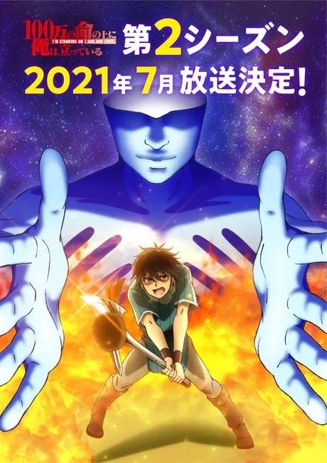 100-Man no Inochi no Ue ni Ore wa Tatteiru tendrá segunda temporada en abril de 2021.