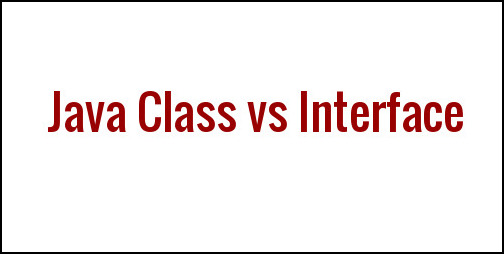 class vs interface in java