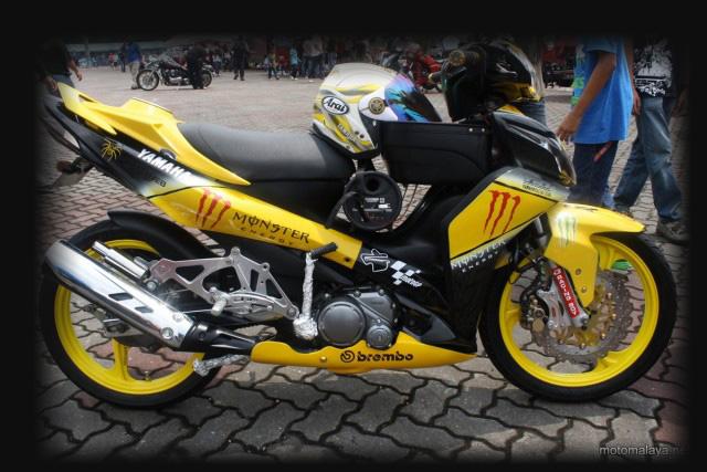 Foto gambar motor modifikasi jupiter paling bagus simpel