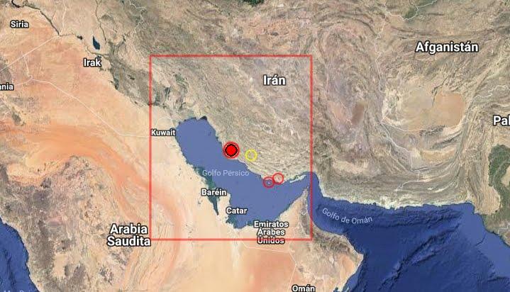 Terremoto oggi in tempo reale adesso ora in questo momento in Iran
