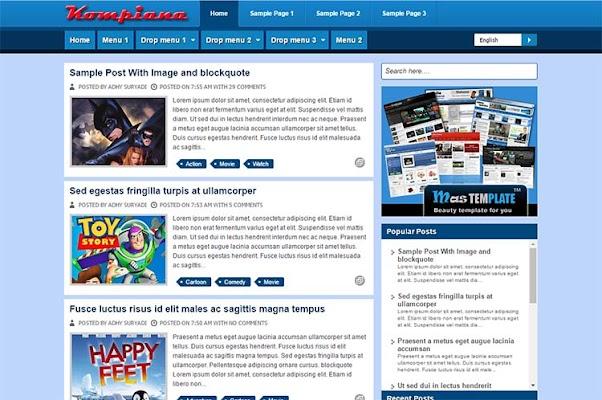 Free Blogger Template - Kompiana