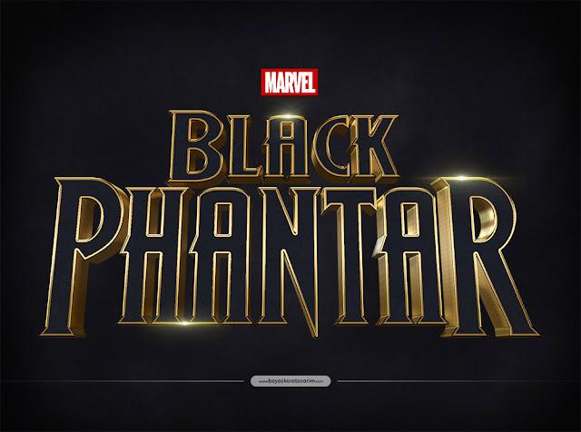 3D logo tasarımı film afişi uç boyutlu