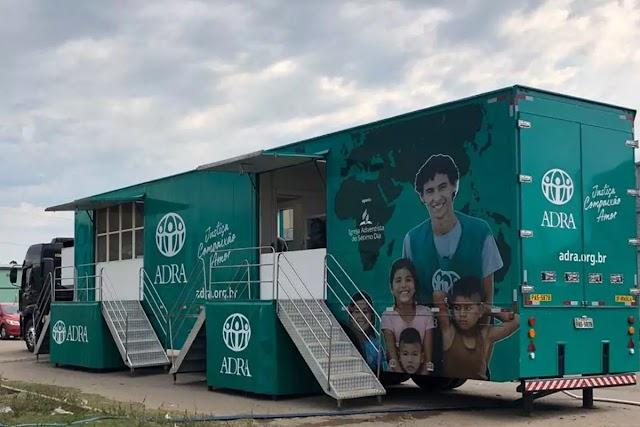 Carreta Solidária da ADRA Brasil segue com ações humanitárias em todo o país