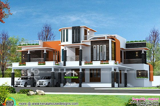 Ultra modern 4 BHK luxurious home plan
