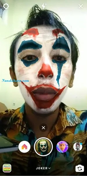 edit foto joker di android