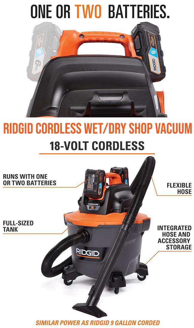 cordless shop vacuum from Ridgid