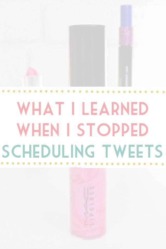Should bloggers schedule promo tweets
