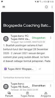Tugas Blogspedia