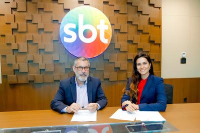José Occhiuso e Débora Bergamasco (Crédito: Gabriel Cardoso/SBT)