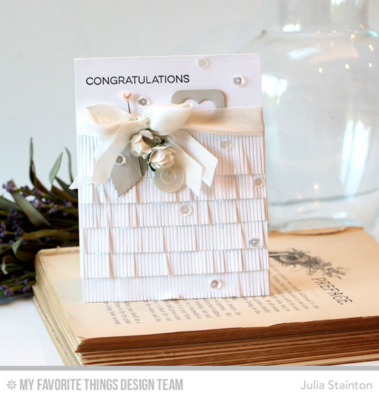 Handmade card from Julia Stainton featuring Essential Sentiments stamp set, Mini Fringe, Slider Channel Builder,  Stitched Heart STAX, and Layered Leaves Die-namics #mftstamps