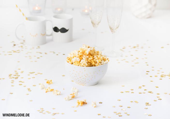 Popcorn selber machen Honig Kokosöl gesund Rezept