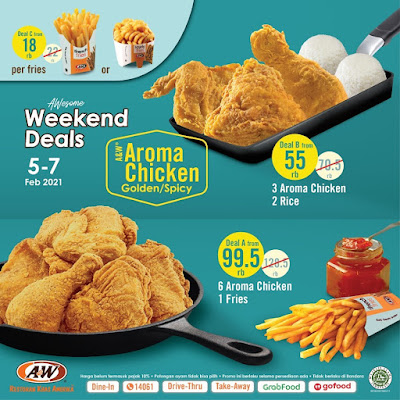 Promo Awesome Weekend Deals Aroma Chicken Golden / Spicy Mulai 55 Ribuan Periode 05 - 07 Februari 2021