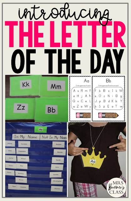 Fun activities for introducing the alphabet letter of the day in Kindergarten