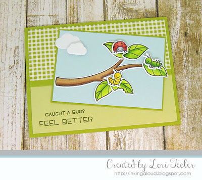 Caught a Bug card-designed by Lori Tecler/Inking Aloud-stamps and dies from Lawn Fawn