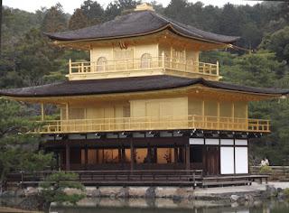 Golden Pavilion, closer view, Kinkaku-ji Garden - Kyoto, Japan