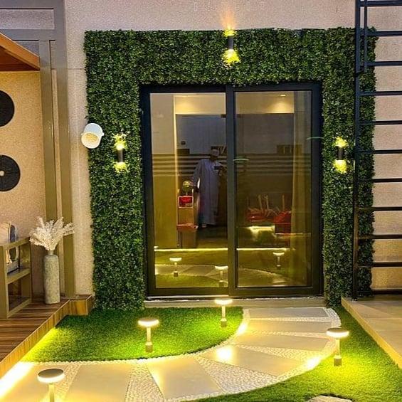 تركيب العشب الجداري الرياض